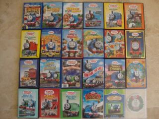 THOMAS & FRIENDS TRACKMASTER TAKE ALONG HUGE LOT OF 24 DVDS EXCELLENT