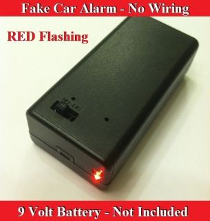 Volt Red Flashing Dummy Fake Car Alarm LED Light No Installation