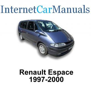 1997 2000 Renault Espace Workshop Service Repair manual 1452 pages CD