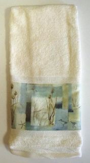 tropical ocean blue water beach bath hand towel