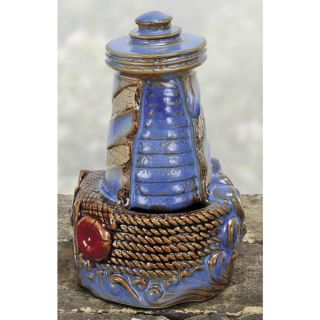 Falling Waters Indoor TABLETOP WATER FOUNTAIN LIGHTHOUSE Home Decor