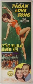 Pagan Love Song Insert Esther Williams MGM Musical Gorgeous Artwork
