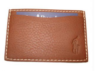 Polo Ralph Lauren Finnegan Slim Wallet Card Case Saddle