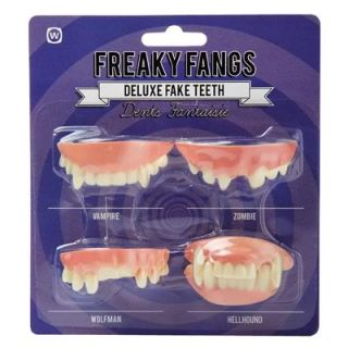 Freaky Fangs Deluxe Fake Teeth Vampire, Zombie, Wolfman and Hellhound