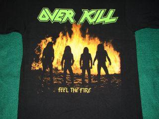 Overkill Feel The Fire Album Logo Shirt New M L XL