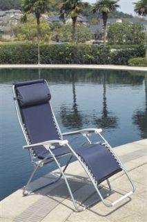 Faulkner Zero Gravity Chair Midnight Dark Blue Padded