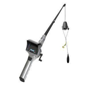Fishing Rod Reel w/ Built In Underwater Camera LCD Screen Bait Basket