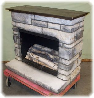 Retro Brick Fireplace 60s 70s Hip Mantel Electric Space Heater Works