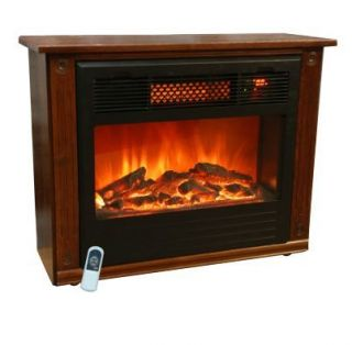 New Lifesmart Quartz Infrared Fireplace Portable Electric Heater 1500