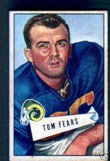 1952 Bowman Small 13 Tom Fears Los Angeles Rams