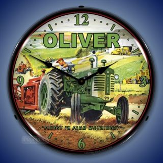 Nostalgic Style Oliver Tractor Farm Machinery Backlit Lighted Wall