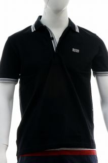 Hugo Boss Mens Modern Fit Paddy Polo Black Shirt 50198254