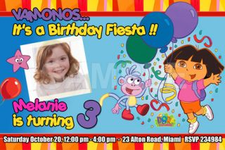 EXPLORER BIRTHDAY PARTY INVITATION PHOTO 1ST CUSTOM INVITE  15 DESIGNS