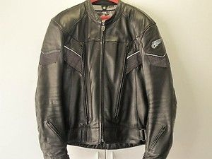 First Gear Leather Motorcycle Jacket Pants