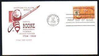 1357 Daniel Boone House of Farnam Cache FDC UA 1968