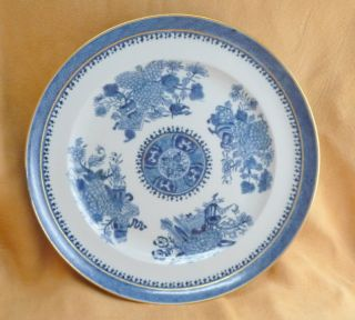 Antique Chinese Blue White Fitzhugh Export Porcelain Dinner Plate