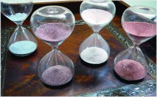 Minute Rust Red Sand Hourglass Modern Timer Sleek