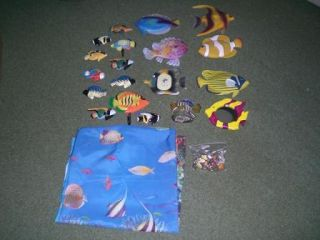 Tropical Fish Bathroom Decorations Decorum Aquarium Decor Complete Set
