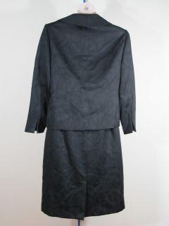 Evan Picone 2 Pc Black Jacquard Skirt Suit Sz 18W Woman Plus Sz NWT $