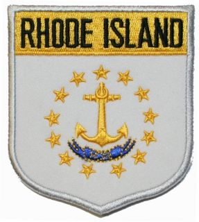 Rhode Island Sae Flag Embroidered Applique Pach