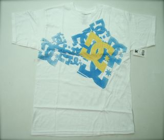 DC Shoes T Shirt White Feist Tee Mens Size Medium Tshirt Skateboard