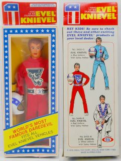 evel knievel 1976 ideal figure red suit mib