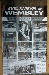 Evel Knievel Wembley 25th Anniversary Poster Mint Condition