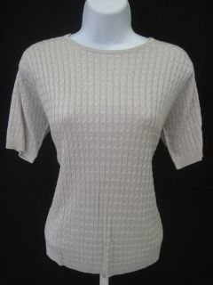 Evelyn Arthur Gray Set Cable Knit Top Cardigan Sz S