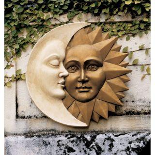 Moon Caressing Sun Celestial Balance Garden Wall Sculpture