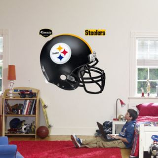 Fathead Fat head NFL Pittsburgh Steelers Helmet Huge Wall Decal New
