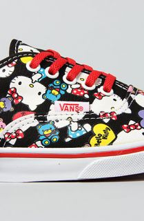 The Hello Kitty Authentic Lo Pro Sneaker in Black and Red Multi