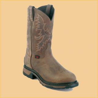 Tony Lama Mens TW1006 11 Tan Crazy Horse Steel Toe Waterproof Work