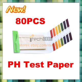 New Ph Test Paper 80 Strips Tester Full Range 1 14