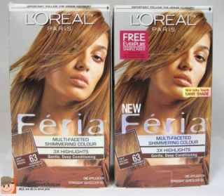 Loreal FERIA Shimmering Colour #63 LIGHT GOLDEN BROWN Sparkling