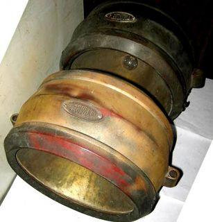 Pair 1920s Fleetwood Script Drum Electric Headlamps Cadillac Pierce