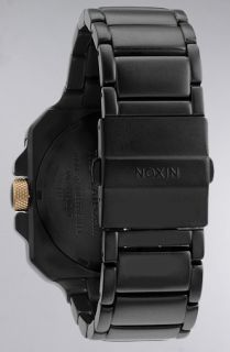 Nixon The Platform Watch in Matte Black and Gold