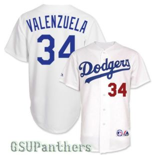 Fernando Valenzuela Los Angeles Dodgers Replica Home Jersey Mens Sz M