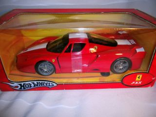 Ferrari FXX Red Hot Wheels 1 18 MIB 2005 Taped Box some wear