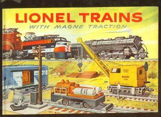 1956 Lionel model train catalog
