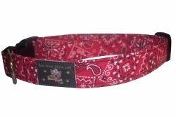 Red Bandana Western Boy Girl Dog Pet Puppy Collar Collars Leashes XS