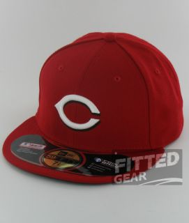 Reds Home Game Red White New Era 59Fifty MLB Fitted Hats Caps