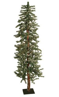 Snowy Flocked Alpine Artificial Christmas Tree Unlit