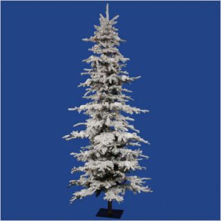 Flocked Georian Fir 90 Artificial Christmas Tree w Multicolored