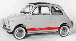 Fasce Adesive Tuning Vecchia Fiat 500 Cinquino Vedi Foto