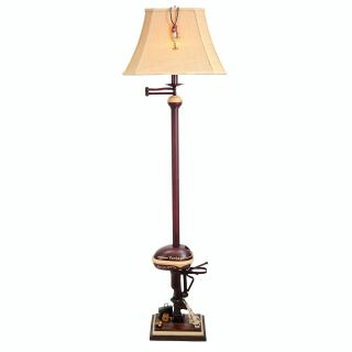 Floor Lamp Vintage Boat Motor Antique Red 65in Fishing Tackle Lamps