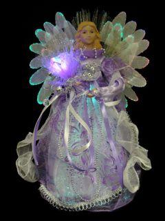 Fiber Optic Purple Angel Christmas Table Top Decoration