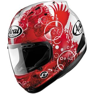 Arai Corsair V Fiction Red Helmet 2X Large