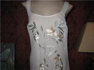 Flora Nikrooz Double Chiffon Nightgown Gown Peignoir Robe Set Negligee