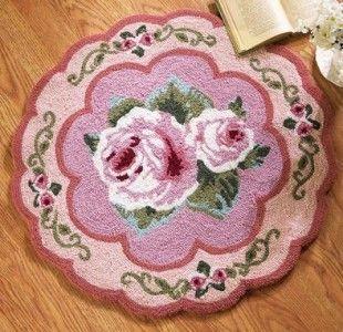 Flower Floral Round Accent Rug Floor Door Mat Home Decor Bedroom Bath