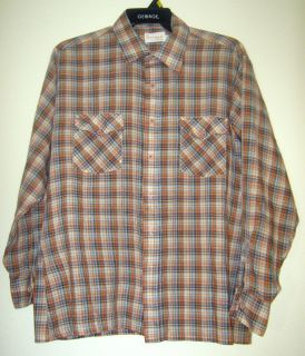 Ferranti Vtg Plaid Mod Rockabilly Western Shirt Top XL
